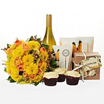 Bright N Beautiful Hamper: Congratulations Flowers to New Zealand