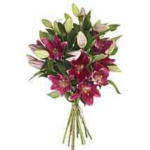 Gleaming Pink Lilies: Romantic Gifts to Nz