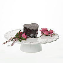 Glossy Heart Choco Cake: Romantic Gifts to Nz