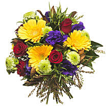 Mixed Colourful Bouquet: Flower Delivery in New Zealand