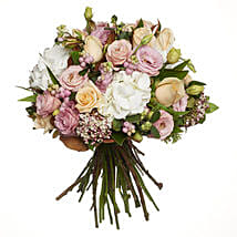 Pastel Flowers Bouquet: Valentine's Day Roses to New Zealand