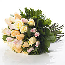 Pastel Rose Bouquet: New Born Flowers to New Zealand