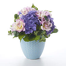 Placid Posy In Tiffany Vase: Anniversary Flowers to New Zealand