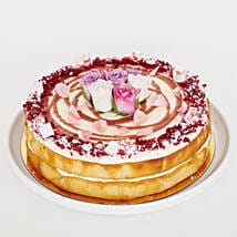 Rich Rhubarb Lemon Rose Cake: Cakes to Auckland