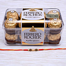 Traditional Rakhi With Ferrero Rocher Chocolate: Rakhi Gifts for Brother to NZ