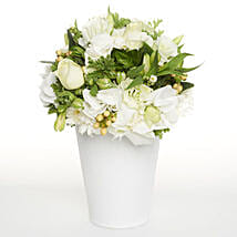 White Delightful Posy: Get Well Soon Gifts to New Zealand