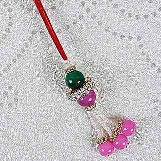 Attractive Pink Lumba Rakhi: Send Rakhi to Oman