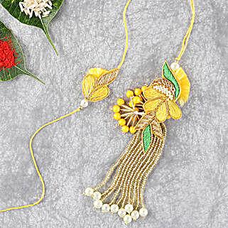 Bright And Beautiful Lumba Rakhi Set: Send Rakhi to Oman