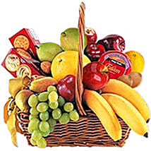 Cheese Crackers n Fruit Basket oma: Send Fathers Day Gifts to Oman