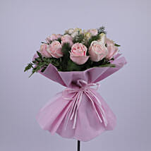 Elegant Bouquet Of Light Pink Roses: Send Thank You Gifts to Oman