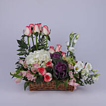 Stylish Basket Of Flowers: Send Mothers Day Gifts to Oman