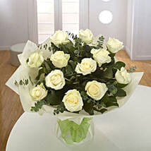 White Roses Bouquet OM: Birthday Gift Delivery in Oman
