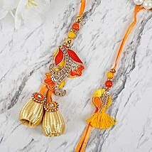 Appealing Zardosi Lumba Rakhi Set: Rakhi to Philippines