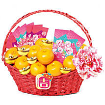 Basket Of Mandarin Oranges: New Year Gifts Philippines