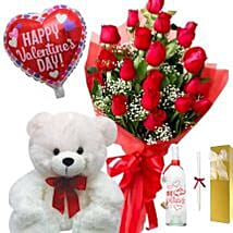 Valentines Greetings Gift Hamper: Send Rose Day Gifts to Philippines