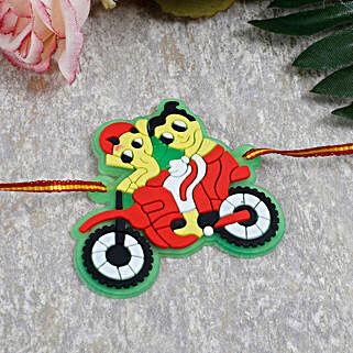 Ganesha Ride Cartoon Rakhi: Rakhi Delivery in Portugal