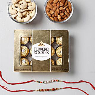 Crunchy And Yummy Rakhi Combo: Set of 2 Rakhi Delivery in Qatar