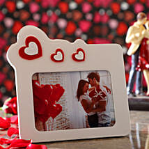 Floating Hearts Personalised Photo Frame: Valentine's Day Gift Delivery in Qatar