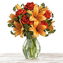 Flourishing Orange: Anniversary Flower Delivery Qatar