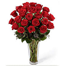 24 Red Roses Arrangement: Roses to Saudi Arabia