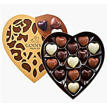 Heart Shaped Godiva Chocolates: Send Fathers Day Gifts to Saudi Arabia