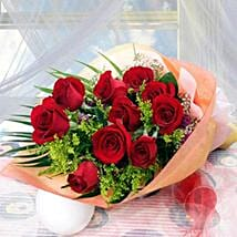10 Long Stem Roses: Send Christmas Flowers to Singapore