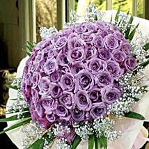 99 Purple Roses: Valentine's Day Bouquet Delivery in Singapore