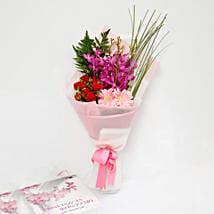 Beautiful Roses and Mokara Orchids Mixed Bouquet: Send Roses to Singapore