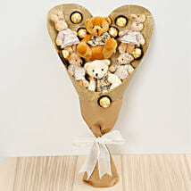 Chocolates and Teddy Bear Bouquet: Send Soft Toys to Singapore
