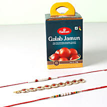 Delicious Rakhi Combo For Brother: Rakhi with Sweets to Singapore