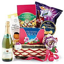 Dry Fruits and Cookies Hamper: Xmas Gift Baskets to Singapore