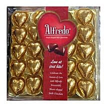 Heart Shaped Alfredo Milk Chocolates: Send Valentine Chocolates to Singapore