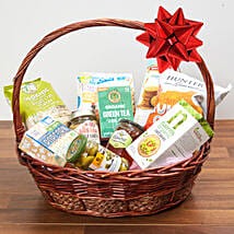 Mint Green Tea And Snacks Basket: Send Christmas Gift Hampers to Singapore