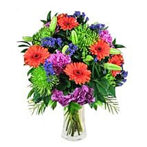 Mix Bouquet in Vase: Anniversary Flowers to Singapore