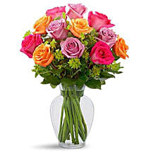 Pure Enchantment Rose Bouquet: Birthday Flowers to Singapore