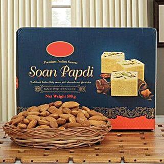 Soan N Almond Hamper: Bhai Dooj Sweets to Singapore