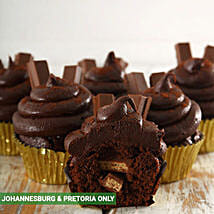Decadent Kit Kat Filled Cupcakes: Fathers Day Gifts to South Africa