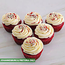 Delectable Red Velvet Cupcakes: New Year Cake Delivery in South Africa