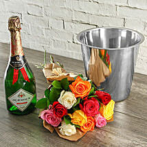 Mixed Roses Jc Le Roux And Ice Bucket: Send Fathers Day Gifts to South Africa