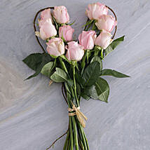 Pink Heart Bouquet: Send Romantic Gifts to South Africa