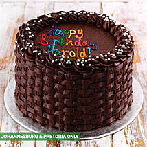Simple Chocolate Birthday Cake: Send Birthday Gifts to South Africa