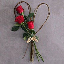 Small Red Rose Willow Heart: Send Romantic Gifts to South Africa