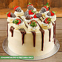 Strawberries and Cream Cake: Send Birthday Cakes to South Africa