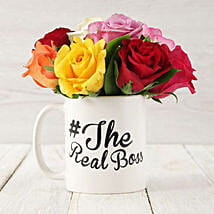 The Real Boss Mixed Rose Arrangement: Congratulations Flowers in South Africa