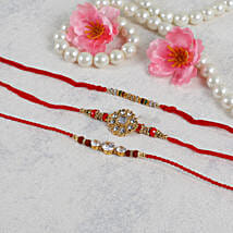 American Diamond Rakhi Set: Send Rakhi to Spain