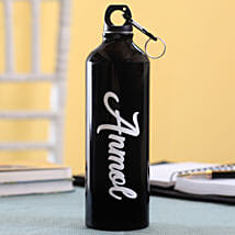 Personalised Name Black Bottle: Send Gifts to Sri Lanka