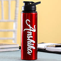 Personalised Name Red Bottle: Gifts to Sri-Lanka