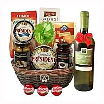 Season Greeting with White Wine: Corporate Hampers to Sweden