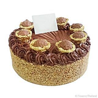 Flavourful Ferrero Gold Birthday Cake: Send Valentines Day Cakes to Thailand