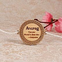 Quoted Personalized Engraved Rakhi: